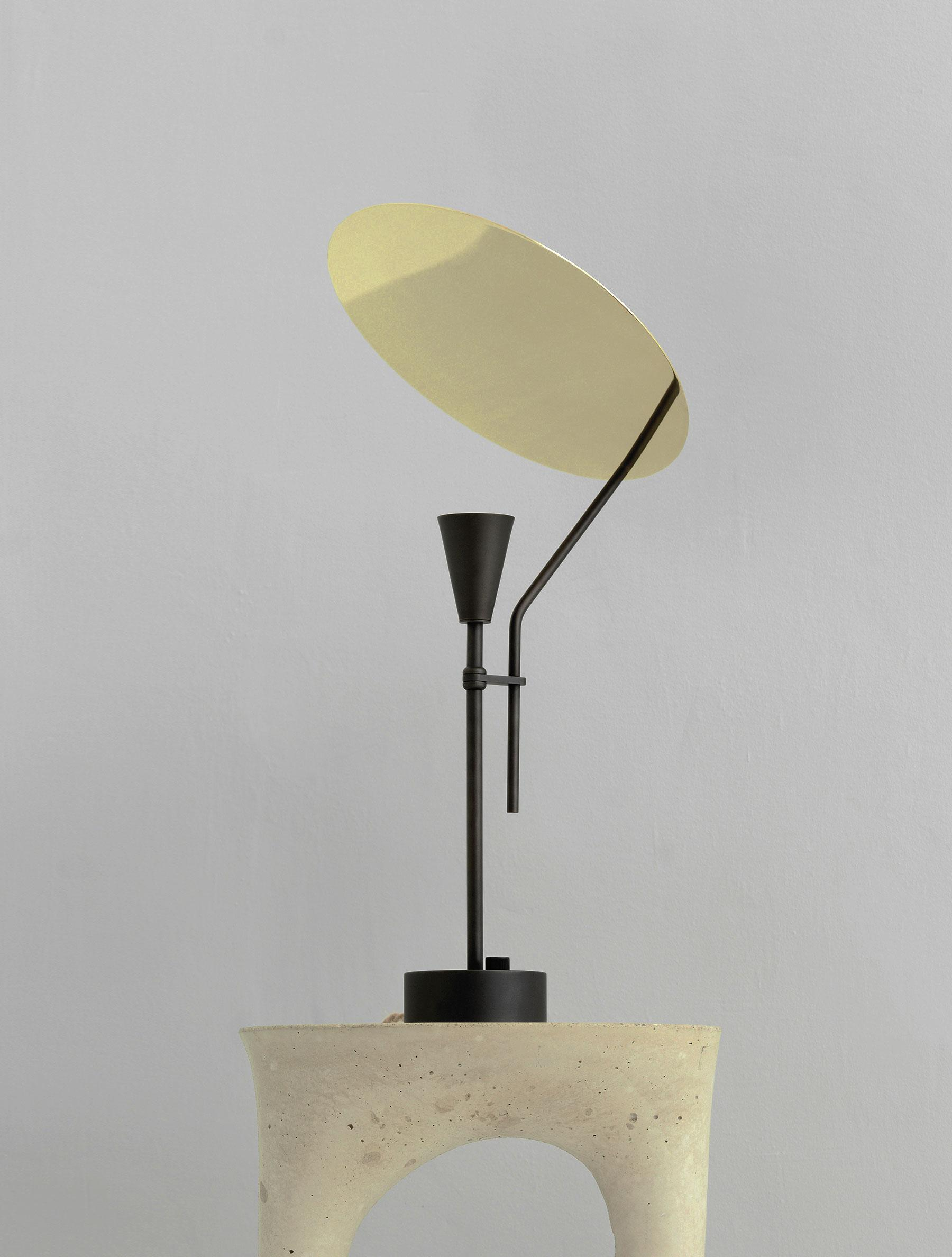 Sail Table Lamp shown in Maker Black