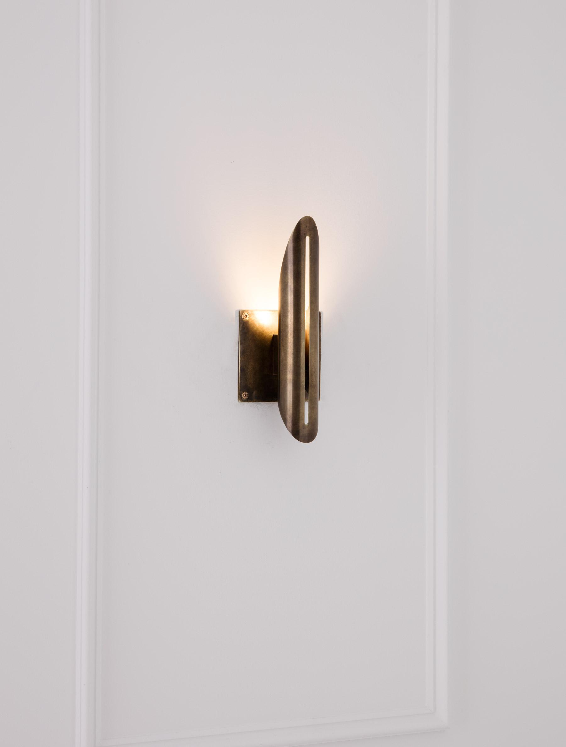"Voyager 11"" Flush Sconce shown in Bronze"